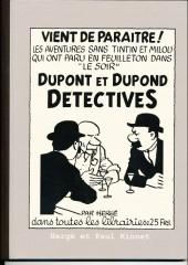 Tintin - Pastiches, parodies & pirates - Dupont et dupond détectives
