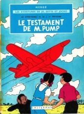 Jo, Zette et Jocko (Les Aventures de) -1B39- Le Testament de M. Pump