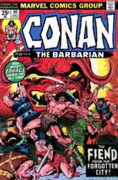 Conan the Barbarian Vol 1 (Marvel - 1970) -40- The fiend from the forgotten city!