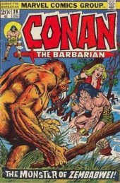 Conan the Barbarian Vol 1 (Marvel - 1970) -28- The monster of Zembabwei!