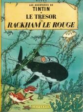 Tintin (Historique) -12C3bis- Le trésor de Rackham Le Rouge