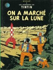 Tintin (Historique) -17C3bis- On a marché sur la lune