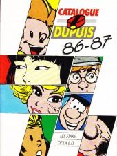 (Catalogues) Éditeurs, agences, festivals, fabricants de para-BD... - Dupuis - 1986 -87 - Catalogue