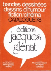 (Catalogues) Éditeurs, agences, festivals, fabricants de para-BD... - Catalogue 1978 - Glénat