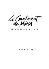 Manuscrits -4- Le Continent de Mars