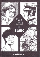 (Catalogues) Éditeurs, agences, festivals, fabricants de para-BD... - Casterman - 1990 - Catalogue -  Vive le noir et blanc