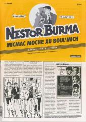 Nestor Burma (Feuilleton) -1- Micmac moche au Boul'Mich - Numéro 1