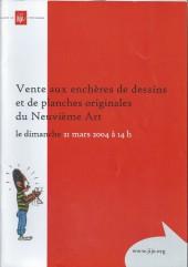(Catalogues) Ventes aux enchères - Divers - Musée Jijé - Dessins et planches originales du Neuvième Art - dimanche 21 mars 2004 - Bruxelles musée BD Jijé