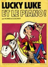 Lucky Luke (Pub et Pastiches) -Chevron- Lucky Luke et le piano !