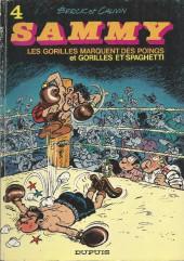 Sammy -4a1974- Les gorilles marquent des poings et Gorilles et spaghetti