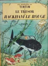 Tintin (Historique) -12B34- Le trésor de Rackham Le Rouge