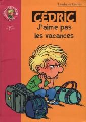Cédric (Bibliothèque rose) -61426- J'aime pas les vacances
