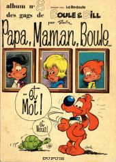 Boule et Bill -03- (Publicitaires) -8La Redoute- Papa, Maman, Boule... ...et Moi ! et Nous !