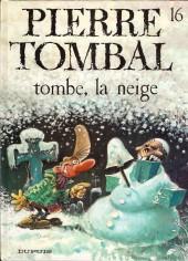 Pierre Tombal -16a2001- Tombe, la neige