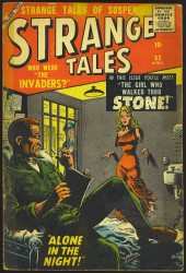 Strange Tales (Marvel - 1951) -62- The Girl Who Walked Thru Stone!