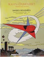 (Catalogues) Ventes aux enchères - Kahn-Dumousset - Kahn-Dumousset - Bandes dessinées - dimanche 18 novembre 2007 - Paris Drouot-Richelieu