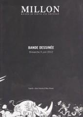 (Catalogues) Ventes aux enchères - Millon - Millon - Bande dessinée - dimanche 3 juin 2012 - Paris salle VV