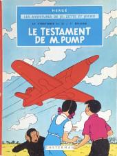 Jo, Zette et Jocko (Les Aventures de) -1B35- Le testament de m. pump