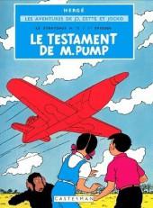 Jo, Zette et Jocko (Les Aventures de) -1B43bis- Le testament de M. Pump