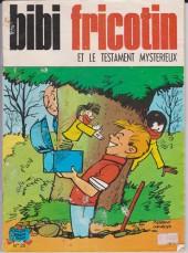 Bibi Fricotin (3e Série - Jeunesse Joyeuse) -28a83- et le testament mysterieux