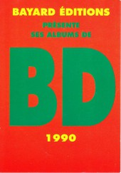 (Catalogues) Éditeurs, agences, festivals, fabricants de para-BD... - Catalogue 1990 - Bayard