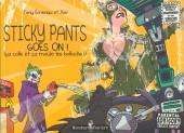 Sticky Pants -2a15- Sticky pants goes on