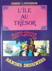 Édition adaptée pour la jeunesse, illustrée en bandes dessinées - L'Île au trésor