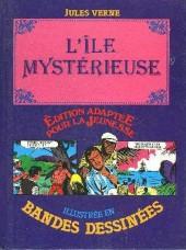 Édition adaptée pour la jeunesse, illustrée en bandes dessinées - L'Île mystérieuse