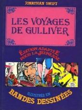 Édition adaptée pour la jeunesse, illustrée en bandes dessinées - Les Voyages de Gulliver