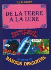 Édition adaptée pour la jeunesse, illustrée en bandes dessinées - De la Terre à la Lune