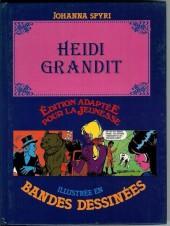 Édition adaptée pour la jeunesse, illustrée en bandes dessinées - Heidi grandit