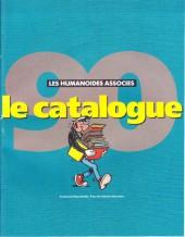 (Catalogues) Éditeurs, agences, festivals, fabricants de para-BD... - Les Humanoïdes Associés 1990 - Catalogue