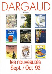 (Catalogues) Éditeurs, agences, festivals, fabricants de para-BD... - Catalogue Sept/oct 1993 - Dargaud