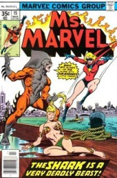 Ms. Marvel (1977) -15- The shark is a very deadly beast!
