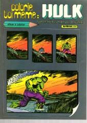 Hulk (3e Série - Arédit - Gamma) -LJ- colorie toi même: hulk