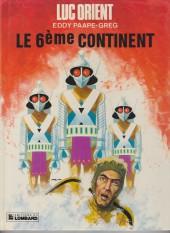 Luc Orient -10c1985- Le 6ème continent