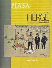 (Catalogues) Ventes aux enchères - Piasa - Piasa - Hergé - mardi 24 mai 2016 - Paris Piasa rive gauche