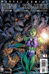 Couverture de Thing & She-Hulk: The Long Night (2002) -1- The Long Night