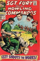 Sgt. Fury and his Howling Commandos (Marvel - 1963) -54- Izzy shoots the works !