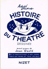 (DOC) Études et essais divers - Histoire du théâtre dessinée
