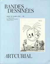 (Catalogues) Ventes aux enchères - Artcurial - Artcurial - Bandes Dessinées - samedi 18 novembre 2017