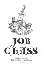 Job class - a zine about fantastic occupations