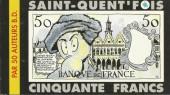 Saint-Quent'fois cinquante francs