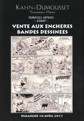 (Catalogues) Ventes aux enchères - Kahn-Dumousset - Khan-Dumousset - Bandes dessinées