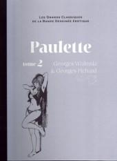 Les grands Classiques de la Bande Dessinée érotique - La Collection -4558- Paulette - Tome 2