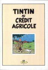 Tintin - Publicités -Crédit Agr- Tintin au Crédit Agricole
