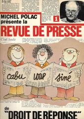 (AUT) Cabu -1- Revue de presse de droit de réponse