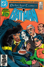 Detective Comics (1937) -547- Cast of characters, sequence of events