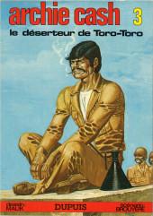 Archie Cash -3a80- Le déserteur de Toro-Toro