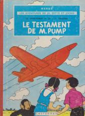Jo, Zette et Jocko (Les Aventures de) -1B34- Le testament de M. Pump